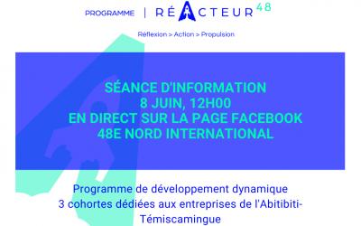 8 juin, séance d'information : Programme de développement dynamique