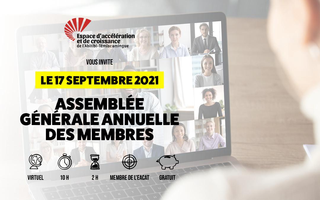Assemblée générale des membres 2021