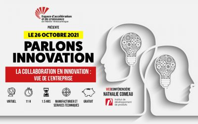 Le 26 octobre 2021: La collaboration en innovation – vue de l'entreprise