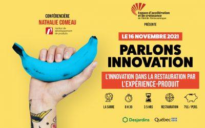 Le 16 novembre 2021: L'innovation dans la restauration