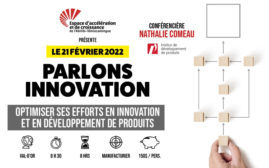 Le 21 février 2022: Optimiser ses efforts en innovation et en développement de produits